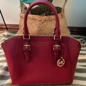 Dark Red MICHAEL KORS handbag